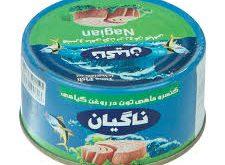 فروش عمده تن ماهی 180 گرمی ناگیان